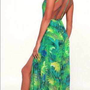 Lulu's Tropical Maxi Dress XS